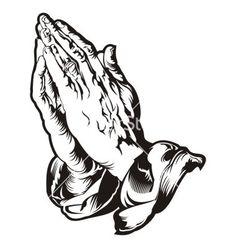 Praying hands tattoo vector 1804198 - by heraldvector on VectorStock®