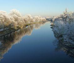 River Avon in Warwick, England. Near Stratford.