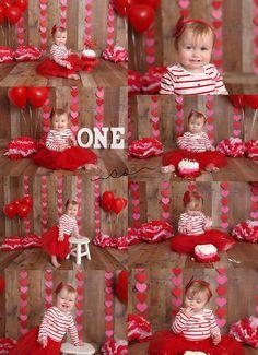 Cake Smash, Hearts, Love, Valentines Day Cake Smash, Red & Pink