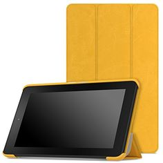 Fire Tablet Accessories  MoKo Case for Fire 7 2015  Ultra Lightweight Slimshell Stand Cover for Amazon Fire Tablet 7 inch Display  5th Generation 2015 Release Only FM YELLOW *** Click the VISIT button for detailed description