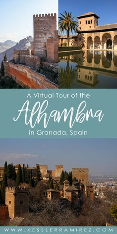 Virtual Tour of the Alhambra in Granada, Andalusia, Spain Alhambra Spain, Andalusia Spain, Virtual Travel, Virtual Tour, Virtual Art, Spain Travel Guide, Virtual Field Trips, Grenade, Walking Tour
