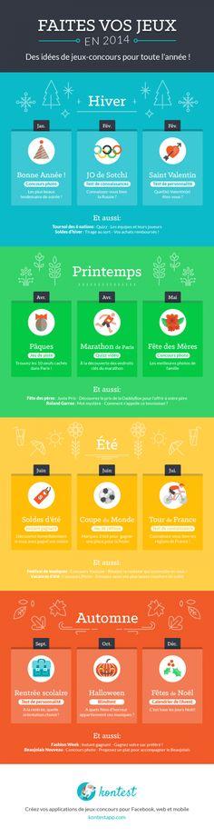 20 Idées de Jeux-Concours Facebook Saisonniers pour votre Calendrier Editorial [Infographie] | Emarketinglicious