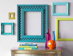 Colorful Picture Frames.