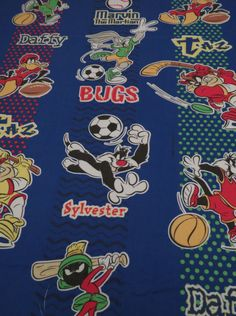 Vintage Looney Tunes twin flat sheet
