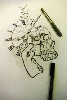 Pin by geovanni escobar on tattoos ♏ idei tatuaje, tatuaje, desene în creio Skull Tattoo Design, Tattoo Design Drawings, Skull Tattoos, Tattoo Sketches, Art Drawings Sketches, Cool Drawings, Art Tattoos, Totenkopf Tattoos, Tattoo Zeichnungen