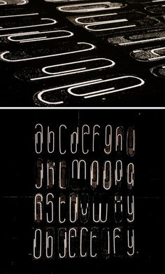 Paperclip alphabet. i like this. SO. MUCH.