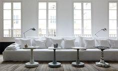 Vosgesparis: Simple + serene + Paris part 2 More of the Parisian loft of Paola Navone Ghost sofa