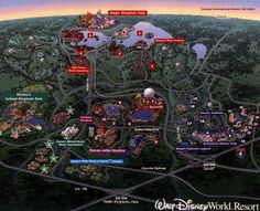 Walt Disney World Resort Map Florida - Find all the Tsum Tsum Characters at TsumTsumPlush.com