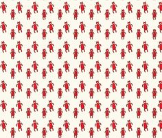 red bears fabric by anda on Spoonflower - custom fabric