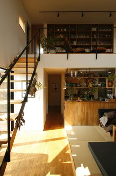 Home Plans Narrow Kitchens 16 New Ideas Loft Design, House Design, Warehouse Living, Home Bar Furniture, Japanese Interior, New House Plans, Trendy Home, Interior Exterior, Bars For Home