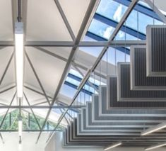 Ceiling baffles Name: Cork country council office, Cork Designer: Cork country council architects Location: Europe Date completed: 2018 Construction Types, Cork, Architects, Stairs, Europe, Ceiling, Country, Design, Home Decor
