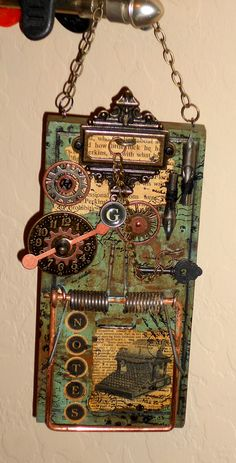"inspiration for my mousetrap building peeps - ""Build a Better Mouse Trap"" mixed media class"