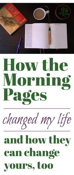 Life Hacks : The Morning Pages are an amazing tool for boosting creativity and clarity in your life, you'll regret not giving it a try! The Morning Pages