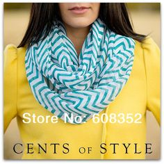 >> Click to Buy << 2014 Fashion Chevron Wave Print Scarf Circle Loop Infinity Scarves Women ZigZag Pattern Voile Stripe Ring Scarf Free Shipping #Affiliate