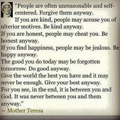 The words of Mother Teresa Great Quotes, Quotes To Live By, Inspirational Quotes, Awesome Quotes, Random Quotes, Inspiring Sayings, Meaningful Sayings, Motivational Quotes, Inspiring Messages