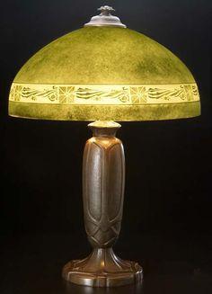"Bradley and Hubbard Table Lamp, #B304, 25 1/2"" x 18"""