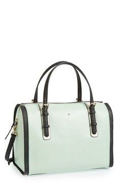 Kate Spade handbag in mint seafoam and black. durupaper.com #kate_spade