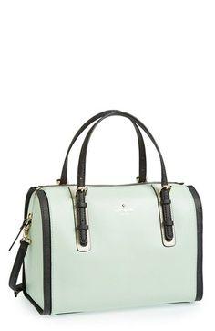 Kate Spade handbag in mint seafoam and black. durupaper.com #kate_spade