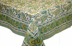 Colorful Hand Block Tablecloths