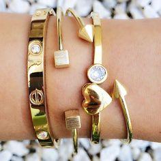 And I do love bracelets! Handbag Accessories, Women Accessories, Jewelry Accessories, Fashion Accessories, Fashion Jewelry, Women Jewelry, Love Bracelets, Cartier Love Bracelet, Bangle Bracelets