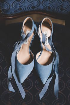 Fairytale Wedding with blue wedding shoes with ribbons Blue Wedding Shoes, Bridal Shoes, Our Wedding, Destination Wedding, Irish Traditions, First Night, Ribbons, Fairytale, Real Weddings