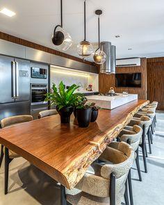 Rustic Kitchen Design, Luxury Kitchen Design, Kitchen Room Design, Dining Room Design, Home Decor Kitchen, Interior Design Kitchen, New Kitchen, Home Kitchens, Open Plan Kitchen Living Room