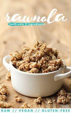 Oat Rawnola (a.k.a. healthy cookie dough) - FeastingonFruit.com