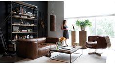 Un salon de style industriel