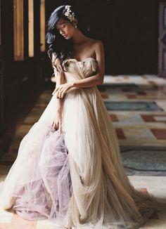 30 Head-Over-Heels Romantic Watercolor Wedding Gowns!