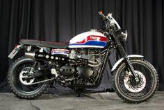 "Racing Cafè: Triumph Scrambler 900 ""70's Cross"" by Rock'n'Ride"