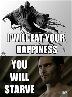 Dementors vs Derek Hale I took the quiz and got Derek.... Awesome..... Totally awesome