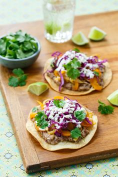 Pinto Bean and Veggie Tostadas