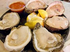 Oyster time! There's always room for some raw Gulf oysters & a beer, from Acme Oyster House. #NOLA