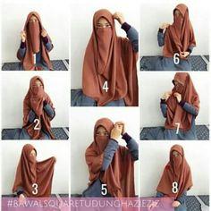 Niqab Fashion, Muslim Fashion, Fasion, How To Wear Hijab, Cool Girl Pictures, Hijab Style Tutorial, Simple Hijab, Modern Hijab, Hijabi Girl