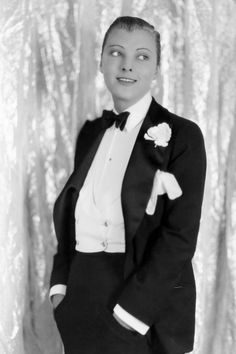 Dorothy Mackaill, 1927 As trousers for women became the norm, the androgynous look was the coolest trend to be seen in. Brit actress Dorothy worked a full tuxedo on the set of The Crystal Cup, making a style statement that women everywhere wanted to buy into.