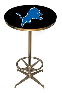 Detroit Lions Pub Table.  Although the base is imported, the table top is proudly made in the USA and sells for only $319.00.