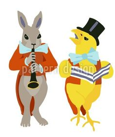 Chick And Rabbit Serenade - Really ceremoniously! Rabbit and Mr. Chick serenade a little piece of music. Pattern Designs, Vector Pattern, Patterns, Coloring Easter Eggs, Piece Of Music, Abstract Pattern, Easter Bunny, Tigger, Tweety