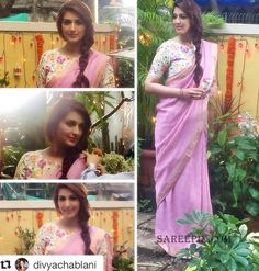 Sonali Bendre's casual look in saree, age doesn't matter for beauty,. Printed boat neck blouse and hairstyle took her gorgeous look to next level.