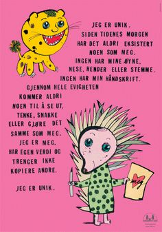 Plakat: Jeg er unik Winter Activities For Kids, Winter Crafts For Kids, Preschool Activities, Kindergarten, Alphabet, Winter Art Projects, Painting Activities, Business For Kids, Baby Crafts