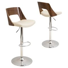 A gorgeous bentwood backrest with a walnut finish adds rich contrast to the comfortable, PU leather upholstered seat and stainless steel frame making this Valencia Bar Stool a stylish addition to your