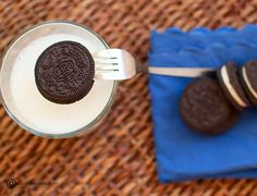 Use a fork to dip your oreo - brilliant.