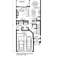 The is a tudor home plan that features: Large foyer and covered entry Spacious, open concept living area with fireplace Luxurious master suite over garage & foyer 3 bedrooms, baths 2 car garage Dream House Plans, Small House Plans, Covered Front Porches, Townhouse Designs, Simple House Design, Tudor House, Storey Homes, Two Story Homes, Bonus Rooms