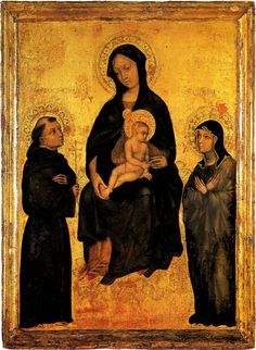 Madonna and child with St Francis and St Clare of Assisi