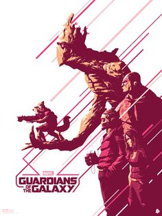 """Marvel's """"Guardians of the Galaxy"""" poster, created by Poster Posse artist Florey"""