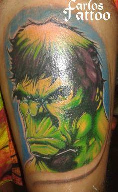 hulk, criação por referencias por Carlos Paranagua.