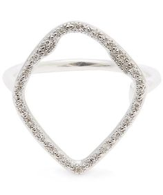 Set with a sparkling irregular hoop of pavé diamonds totalling carats, this oversized Monica Vinader Riva Cocktail ring is both elegant and eye-catching. Label Design, Cocktail Rings, Hoop, Cocktails, Silver Rings, Sparkle, Sterling Silver, Elegant, Diamonds
