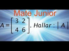 Como desarrollar la determinante de una matriz de 2x2 Sigueme en facebook y YouTube como Mate Junior