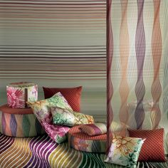 Again celebrating colour combination in the KIGALI collection from MISSONI HOME on ArenasCollection.com