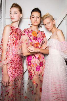 Backstage at Jenny Packham - New York Fashion Week - Spring 2017