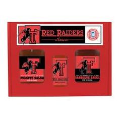 Texas Tech Red Raiders TailGate Set (Hot Sauce, BBQ and Salsa)